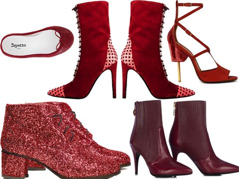 Footwear, Brown, Red, White, Carmine, Fashion, Maroon, Boot, Liver, Fashion design,