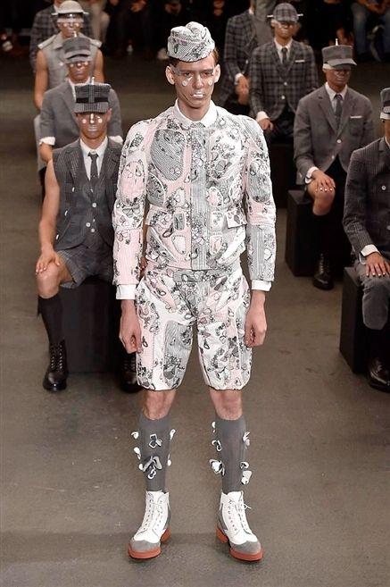 Clothing, Footwear, Hat, Outerwear, Coat, Style, Cap, Pattern, Street fashion, Suit,