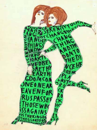 Green, Teal, Fictional character, Illustration, Creative arts, Painting, Drawing, Costume design, Pleased, Tail,