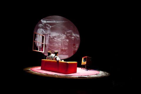 Stage, Magenta, Theatre, Music venue, Darkness, heater, Space, Drama, Scene, Arch,