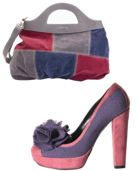 Brown, Red, Bag, High heels, Style, Basic pump, Luggage and bags, Shoulder bag, Fashion, Beige,