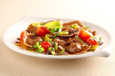 Food, Cuisine, Ingredient, Dishware, Tableware, Dish, Recipe, Meat, Garnish, Plate,