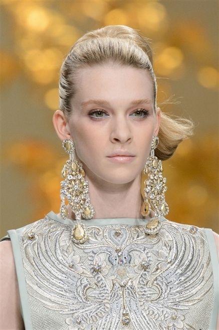 Ear, Lip, Hairstyle, Earrings, Eyelash, Style, Dress, Beauty, Fashion accessory, Fashion,