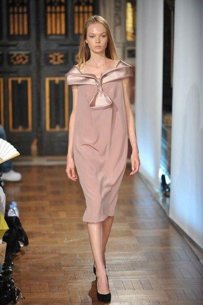 Clothing, Footwear, Shoulder, Dress, Fashion show, Fashion model, Style, One-piece garment, Runway, Fashion,