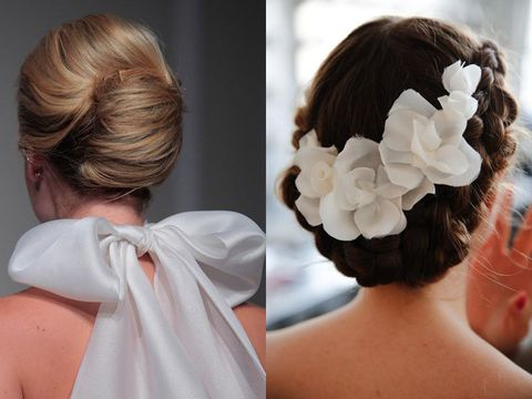 Hair, Hairstyle, Forehead, Shoulder, Style, Hair accessory, Bridal accessory, Neck, Back, Long hair,