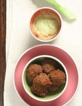 Food, Cuisine, Green, Finger food, Ingredient, Dish, Dishware, Recipe, Meat, Falafel,