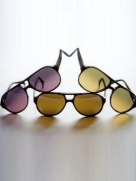 Eyewear, Vision care, Yellow, Line, Amber, Pattern, Purple, Orange, Tints and shades, Black,