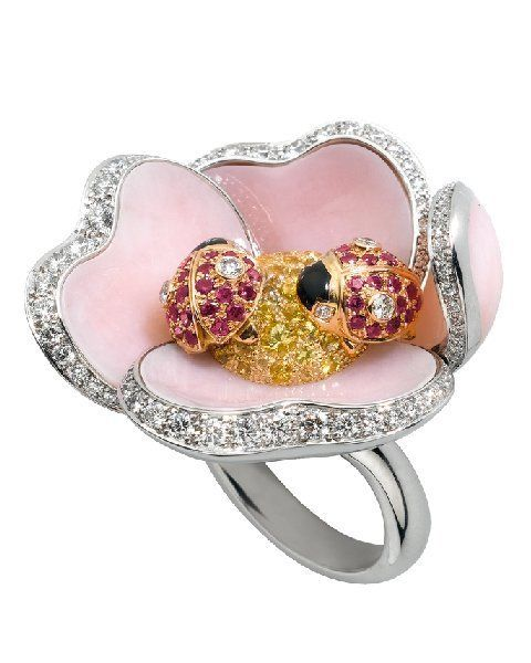 Jewellery, Fashion accessory, Pink, Fashion, Natural material, Body jewelry, Metal, Gemstone, Ring, Pre-engagement ring,