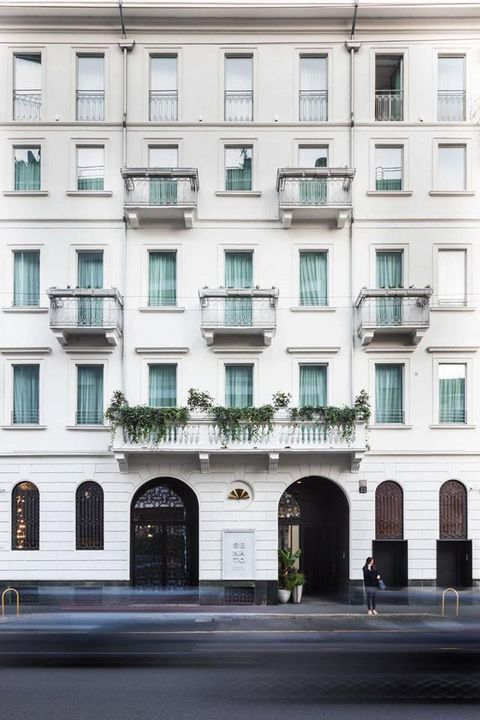Window, Architecture, Facade, Building, Apartment, Condominium, Door, Mixed-use, Balcony, Material property,