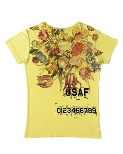 Product, Yellow, Sleeve, T-shirt, Baby & toddler clothing, Active shirt, Top, Artificial flower, Blouse, Floral design,