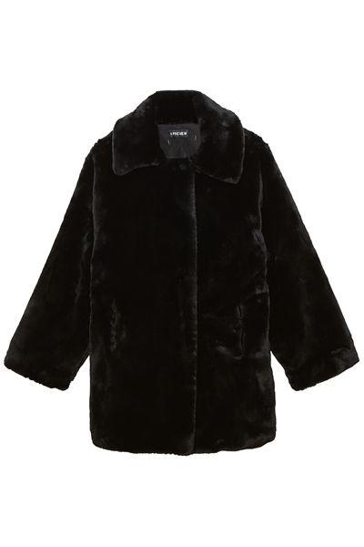 Sleeve, Textile, Outerwear, Jacket, White, Coat, Fashion, Black, Natural material, Fur,