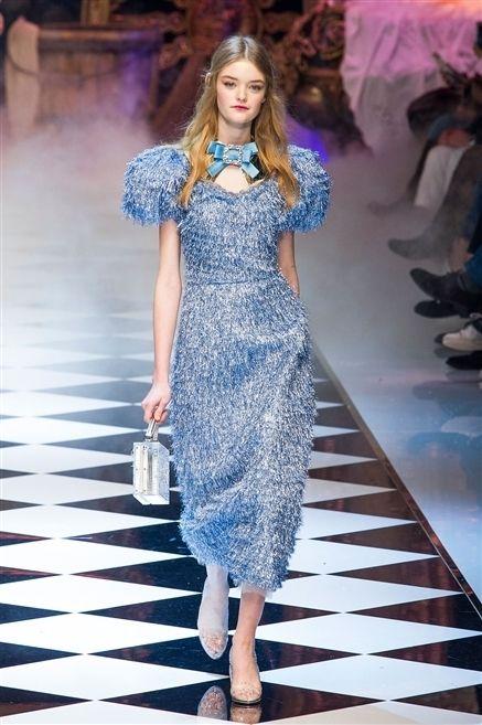 Clothing, Blue, Fashion show, Shoulder, Dress, Runway, Fashion model, Style, Electric blue, One-piece garment,