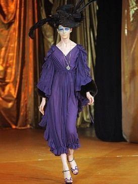 Textile, Dress, Floor, Flooring, Formal wear, One-piece garment, Purple, Fashion, Costume design, Fashion show,