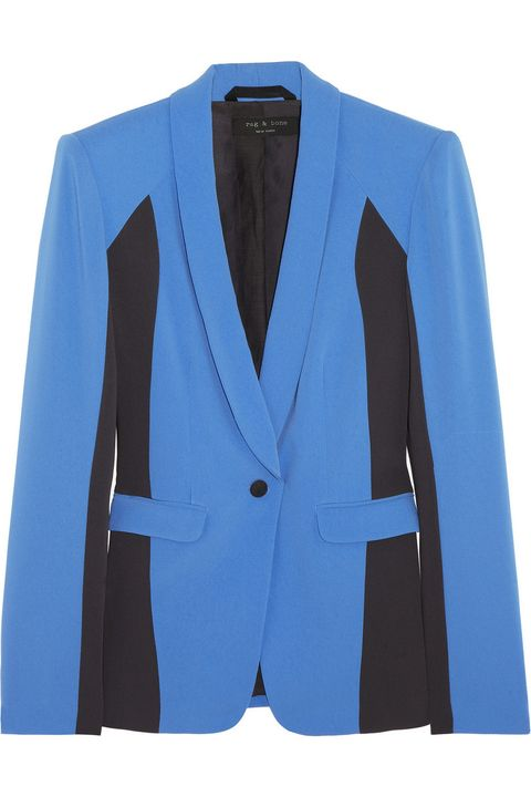 Clothing, Blue, Product, Coat, Collar, Sleeve, Textile, Outerwear, White, Formal wear,