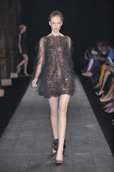 Clothing, Leg, Human body, Fashion show, Shoulder, Dress, Human leg, Runway, Joint, Style,