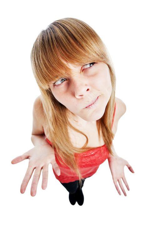 Mouth, Finger, Lip, Hairstyle, Skin, Hand, Bangs, Jaw, Step cutting, Eyelash,