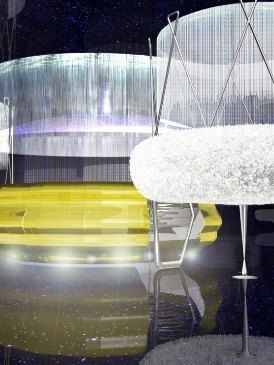 Transparent material, Water feature, Cage,