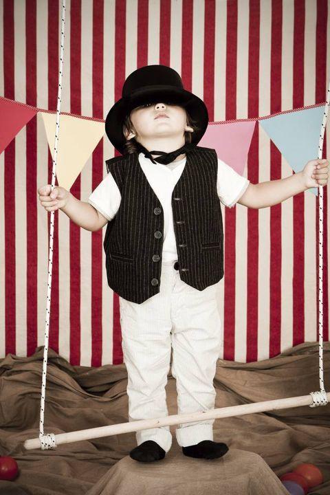 Hat, Costume accessory, Sun hat, Costume hat, Vintage clothing, Costume, Child model, Fedora, Balance, Button,