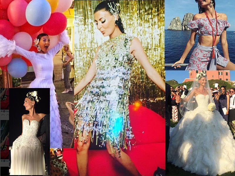 Il matrimonio di Giovanna Battaglia: ecco tutti i look sfoggiati dalla sposa