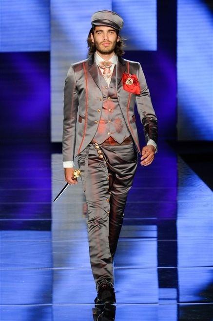 Fashion show, Style, Runway, Fashion model, Cap, Fashion, Electric blue, Blazer, Beard, Street fashion,