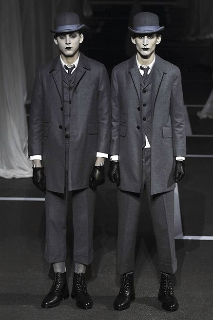 Footwear, Hat, Coat, Sleeve, Trousers, Collar, Outerwear, Standing, Suit trousers, Dress shirt,