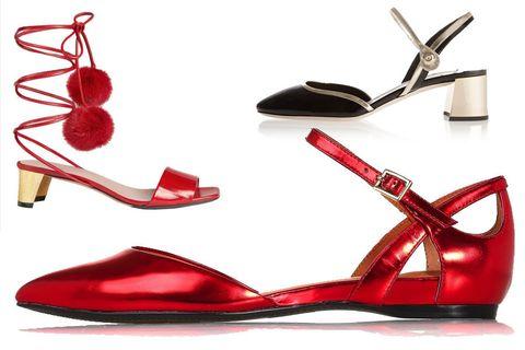 Footwear, Product, Red, High heels, Carmine, Fashion, Sandal, Basic pump, Maroon, Material property,