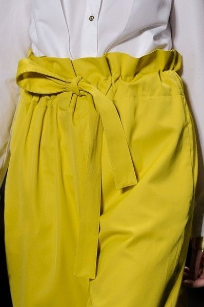 Blue, Yellow, Textile, White, Fashion, Fashion design, Pocket, One-piece garment, Satin, Day dress,