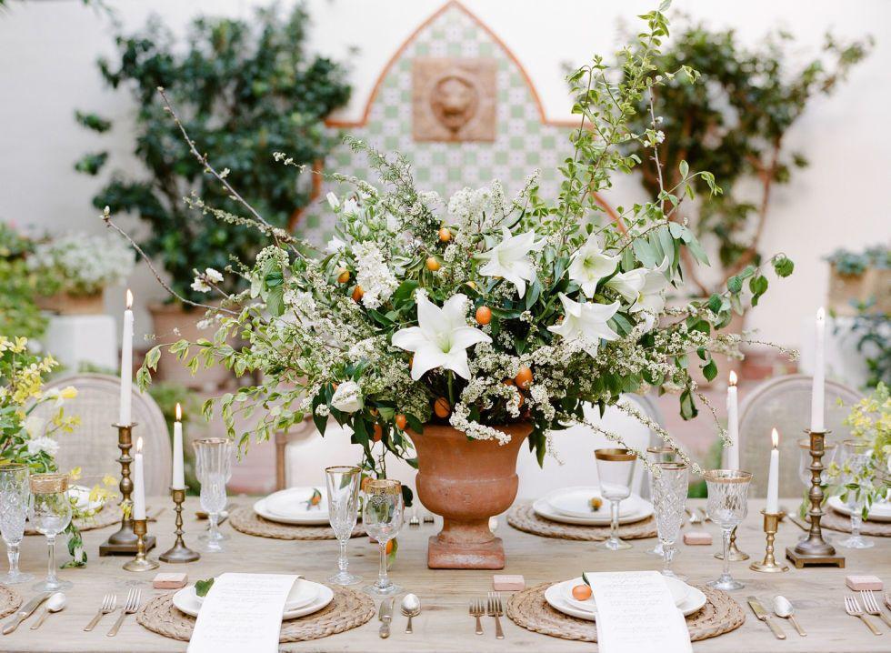 25 allestimenti per la tavola del matrimonio