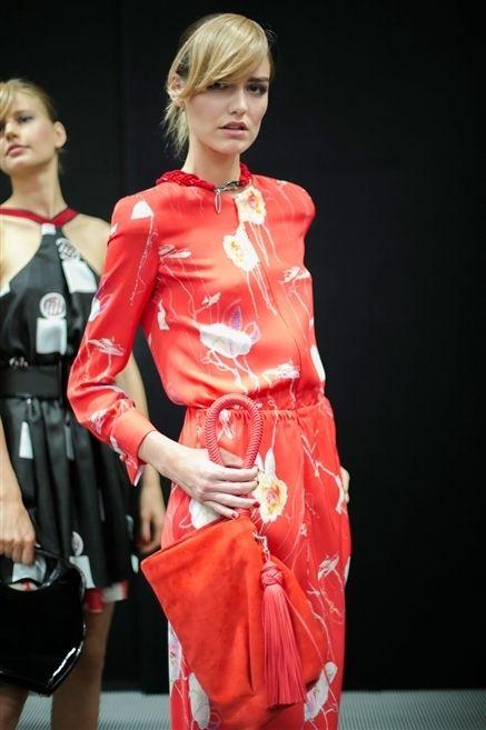 Clothing, Dress, Style, Bangs, Bag, Fashion model, Fashion, Model, Eyelash, Luggage and bags,