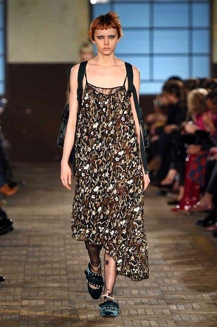 Clothing, Footwear, Shoulder, Joint, Fashion show, Style, Dress, Pattern, Street fashion, Fashion model,
