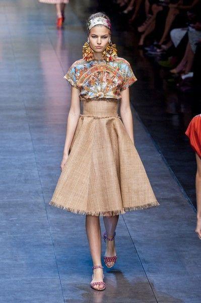 8e5a43ddf9 Sfilata Dolce & Gabbana - Primavera-Estate 2013 - Milano