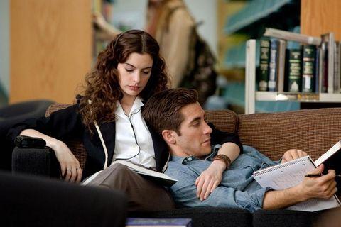 Sitting, Publication, Shelf, Conversation, Reading, Brown hair, Shelving, Book, Bookcase, Gadget,