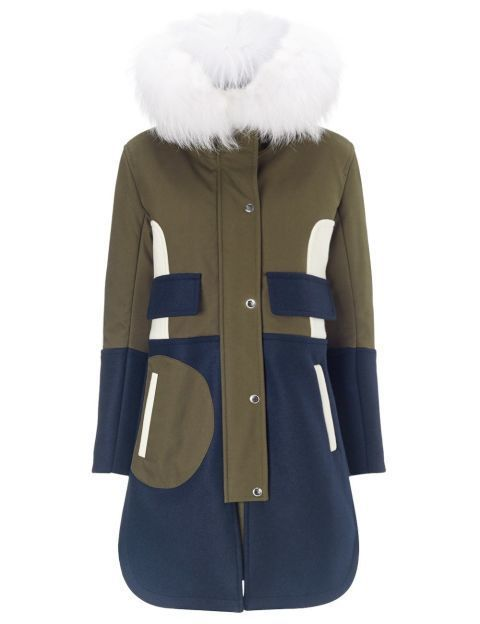 Sleeve, Coat, Textile, Outerwear, Collar, Natural material, Fashion, Uniform, Electric blue, Fur clothing,
