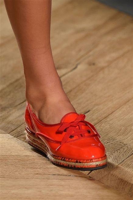 Footwear, Human leg, Red, Floor, Hardwood, Carmine, Orange, Fashion, Tan, Toe,