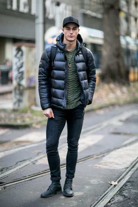 Clothing, Jacket, Trousers, Human body, Denim, Textile, Outerwear, Jeans, Standing, Street fashion,