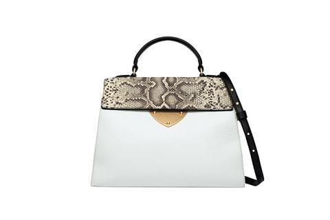 Bag, Shoulder bag, Luggage and bags, Beige, Silver, Label, Satchel, Leather, Handbag,