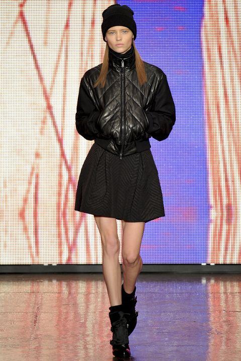 Clothing, Textile, Jacket, Outerwear, Human leg, Knee, Headgear, Boot, Fashion, Cap,