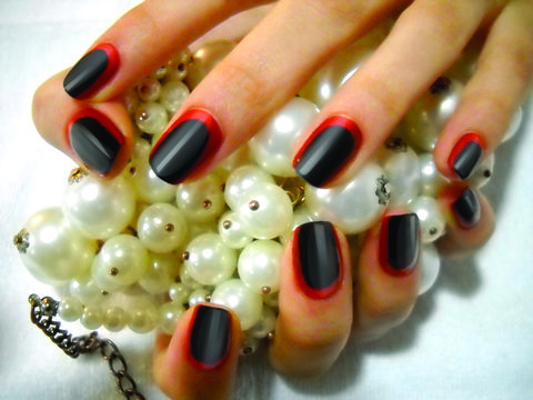 Finger, Nail, Nail care, Nail polish, Manicure, Orange, Artificial nails, Design, Creative arts, Cosmetics,