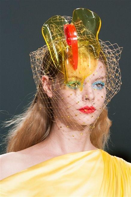Lip, Yellow, Headgear, Hair accessory, Eyelash, Headpiece, Makeover, Fashion design, Eye liner, Body jewelry,