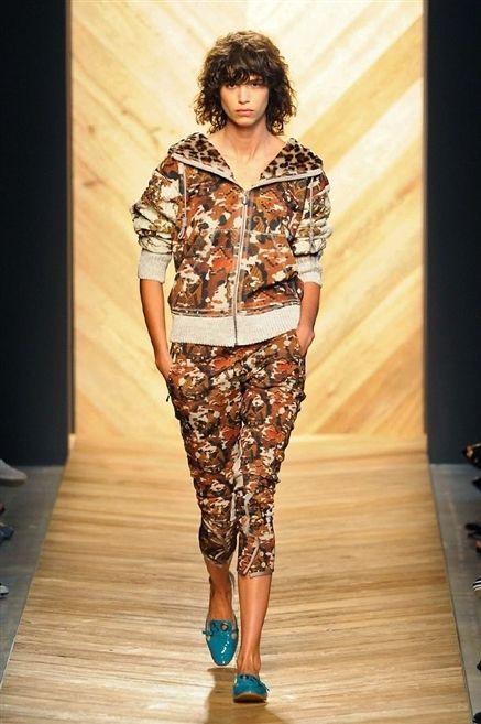 Brown, Human body, Style, Waist, Fashion, Neck, Thigh, Fashion model, Camouflage, Fashion show,