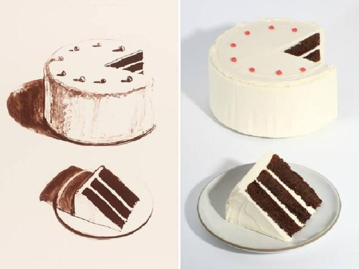 Torta di Cioccolato Thiebaud che riprende Chocolate Cake di Wayne Thiebaud