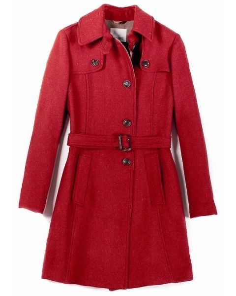 Clothing, Product, Collar, Sleeve, Coat, Red, Textile, Outerwear, White, Pattern,