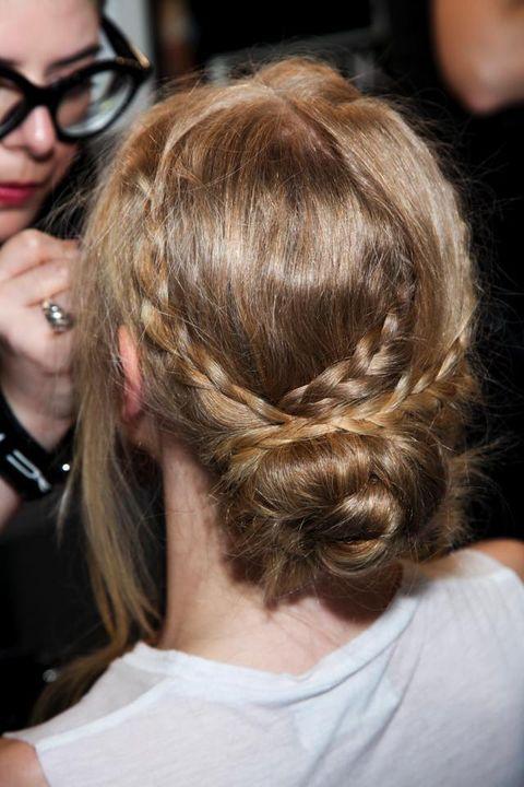 Hair, Hairstyle, Style, Long hair, Wrist, Hair coloring, Fashion, Brown hair, Neck, Blond,