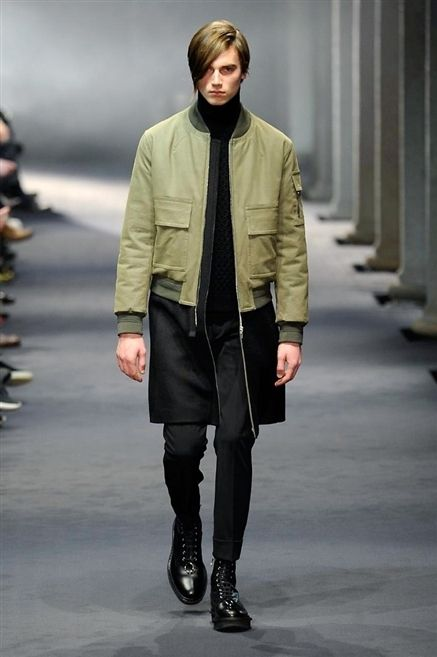Clothing, Sleeve, Winter, Jacket, Joint, Outerwear, Style, Fashion show, Boot, Fashion model,