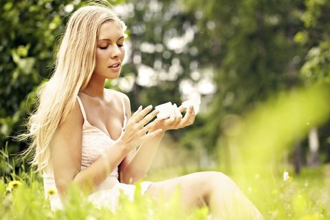 Finger, Photograph, People in nature, Summer, Sunlight, Beauty, Sitting, Photography, Model, Blond,