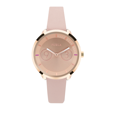 Product, Brown, Watch, White, Pink, Analog watch, Watch accessory, Peach, Font, Magenta,