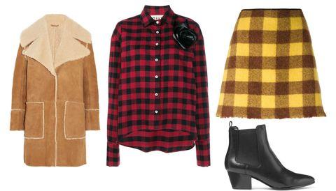 Camicia a quadri rossa e nera