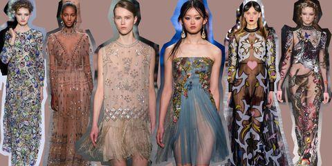 brand new a5eae d59ca Moda inverno 2016: l'eleganza dei vestiti trasparenti