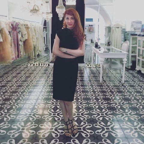 Clothing, Floor, Dress, Flooring, Style, Street fashion, Fashion, One-piece garment, Day dress, Waist,