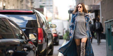 Textile, Outerwear, Sunglasses, Style, Street, Street fashion, Vehicle door, Automotive tail & brake light, Sport utility vehicle, Fur,